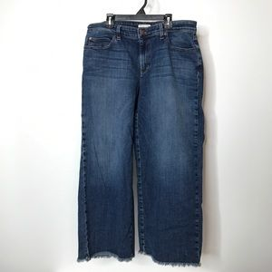 """Eileen Fisher Cut Off Cropped Jeans Waist 32"""""""